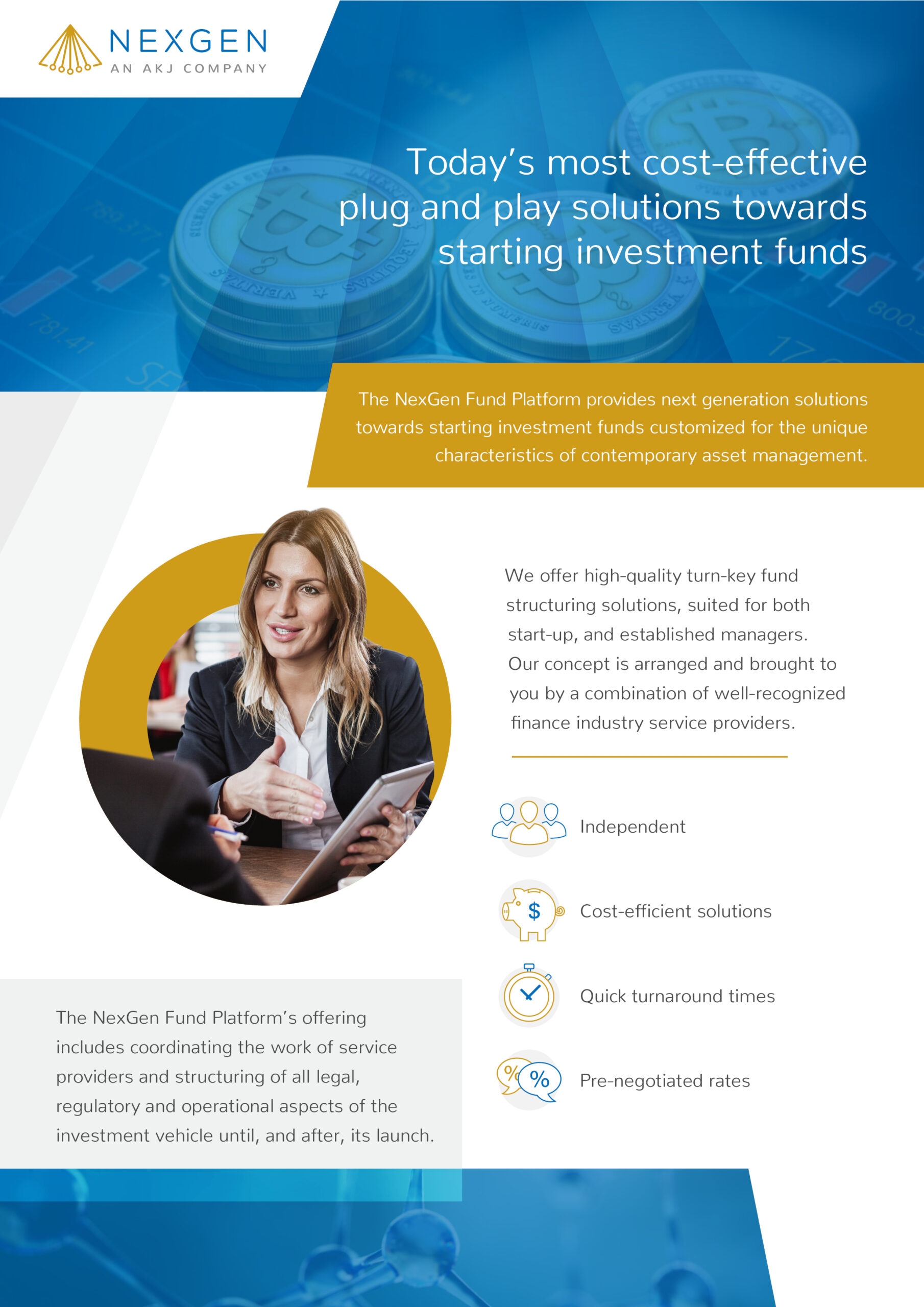 Today's most cost-effective plug and play solutions towards starting investment funds